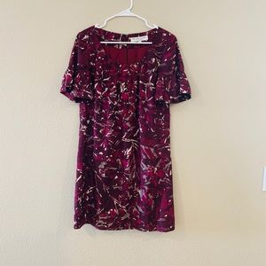 Trina Turk Berry Floral Shift Dress Sz 6